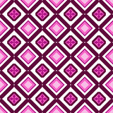 Retro seamless wallpaper background Japanese purple pink diamond. Check geometry chintz can be used for both print and web page Royalty Free Stock Photo