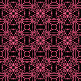 Retro seamless wallpaper background pink kaleidoscope cross spir. Al round vine can be used for both print and web page Royalty Free Stock Photography