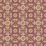 Retro seamless wallpaper background round curve cross flower kal. Eidoscope can be used for both print and web page Royalty Free Stock Images
