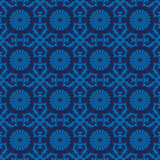 Retro seamless wallpaper background vintage blue spiral round cr Royalty Free Stock Images