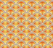 Retro seamless wallpaper background vintage orange yellow gradie. Nt scale curve round can be used for both print and web page Royalty Free Stock Photo