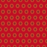 Retro seamless wallpaper background vintage red round geometry s Royalty Free Stock Photo