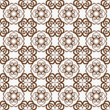 Retro seamless wallpaper background vortex spiral curve round cr. Oss vine kaleidoscope can be used for both print and web page Royalty Free Stock Image
