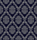 Retro seamless Wallpaper with damask floral Ornament for design Stock Images