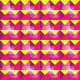 Retro seamless yellow and purple pattern Royalty Free Stock Photos