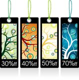 Retro season tags Stock Image