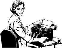 Retro Secretary Royalty Free Stock Photo