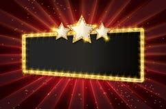 Retro segni di Showtime royalty illustrazione gratis