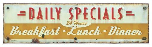 Retro segno del ristorante Fotografia Stock
