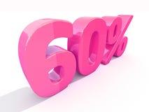 Retro segno di percentuali rosso Fotografia Stock Libera da Diritti