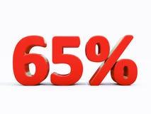 Retro segno di percentuali rosso Fotografia Stock