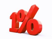 Retro segno di percentuali rosso Fotografie Stock