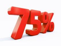 Retro segno di percentuali rosso Immagini Stock
