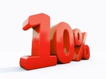 Retro segno di percentuali rosso Immagine Stock Libera da Diritti