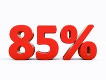 Retro segno di percentuali rosso Immagine Stock