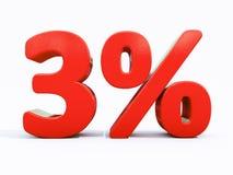 Retro segno di percentuali rosso Fotografie Stock Libere da Diritti