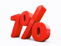 Retro segno di percentuali rosso Immagini Stock Libere da Diritti