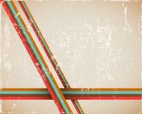 Retro- Seiten-Hintergrund im Braun Stockbild
