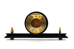 Retro sepia clock. On a white background Royalty Free Stock Images