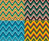 Retro-serrated-pattern-3 copy. Beautiful trendy colorful seamless serrated pattern. Abstract geometric shapes. Abstract background. Fully editable vector mosaic Royalty Free Stock Photo