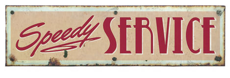 Retro Service Sign. Retro Speedy Service Tin Sign stock photography