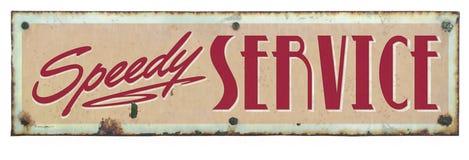 Retro- Service-Zeichen stockfotografie