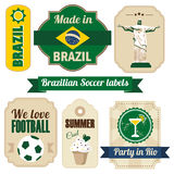 Retro set of Brazilian labels and tags, s Stock Photos