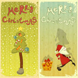Retro Set of Christmas card Royalty Free Stock Photo