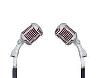 retro set för mikrofon Royaltyfri Fotografi