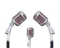 retro set för mikrofon Royaltyfri Foto