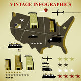 Retro set of infographic Royalty Free Stock Photo