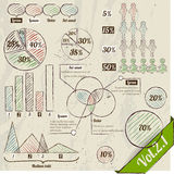 Retro set of infographic elements. Royalty Free Stock Photo