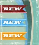 Retro- Set neue Marken Lizenzfreie Stockbilder