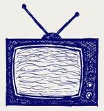 Retro set televisivo royalty illustrazione gratis