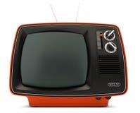 Retro set televisivo Fotografia Stock Libera da Diritti