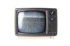 Retro set televisivo con elettricità statica fotografia stock libera da diritti