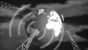 Retro set televisivo del b&w illustrazione vettoriale