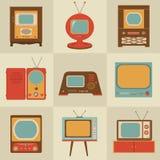 Retro set televisivo dell'annata Immagini Stock Libere da Diritti