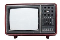 Retro set televisivo di colore Fotografia Stock Libera da Diritti