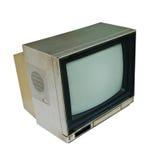 Retro set televisivo di colore su priorità bassa bianca Immagine Stock Libera da Diritti