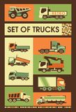 Retro set of trucks Royalty Free Stock Photo