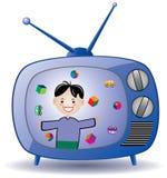 retro set tv ilustracja wektor