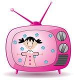 retro set tv ilustracji
