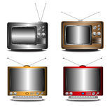 retro set tv Obraz Royalty Free