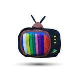 retro set tv διανυσματική απεικόνιση