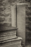 Retro setting and effect of antique vintage books Stock Images