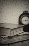 Retro setting and effect of antique vintage books Royalty Free Stock Photo