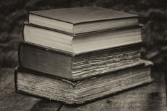 Retro setting and effect of antique vintage books Stock Photography