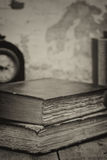 Retro setting and effect of antique vintage books Royalty Free Stock Image
