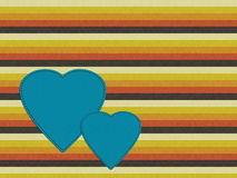 Retro seventies palette background with hearts, orange, brown, g Royalty Free Stock Photography